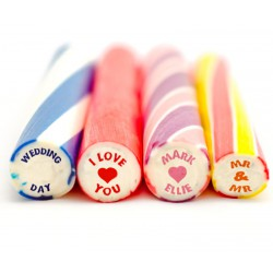 15.5x2.5cm Wedding Rock Sticks with labels