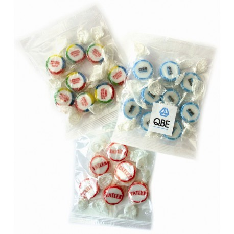Packets Containing Personalised Rock Sweets