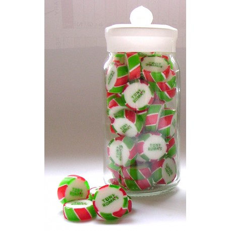 Conference Glass Jar Containing Personalised Rock Sweets