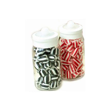 Conference Glass Jar Containing Coloured Humbugs