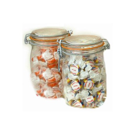 1 Litre Preserve Jars Containing Personalised Rock Sweets