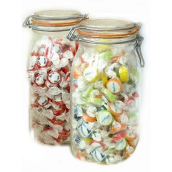 2 Litre Preserve Jars Containing Personalised Rock Sweets