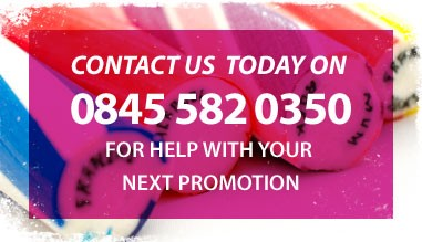 Contact The Rock Sweet Company Today for help with your next promotion call 0845 582 0350